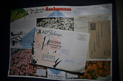 1937 Kelloggs Plant Catalog, Three Rivers, Michigan, Azaleamum, Glorymum,