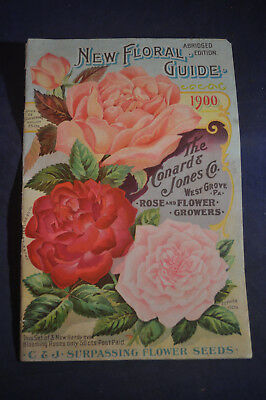 1900 *EARLY* New Floral Guide Catalog - Conard & Jones, West Grove Pa