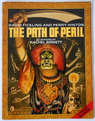 THE PATH OF PERIL Fantasy Questbook by David Fickling and Perry Hinton 1985