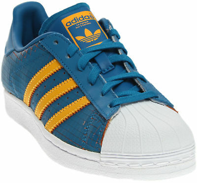 adidas Superstar Youth Sneakers- Blue- Boys