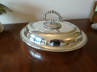 Vintage MAPPIN & WEBB silver plated Oval 3 piece SERVING TUREEN/DISH with handle