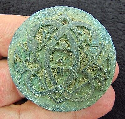 Viking Bronze Applique Knot of Midgard Serpent - Jörmungandr  c.900 AD (1338+)