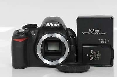 Nikon D3100 14.2MP Digital SLR Camera Body Black                            #366