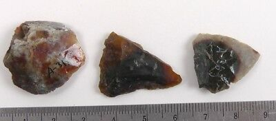 Lot of 3 Pre-historic FLAKE & FRAG POINTS Fort Saskatchewan, Alberta, Lot 4684