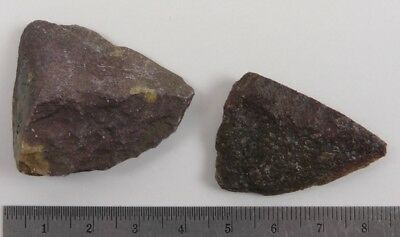 2 Pre-historic UNIFACE & FRAG POINT Fort Saskatchewan, Alberta, lot 4682