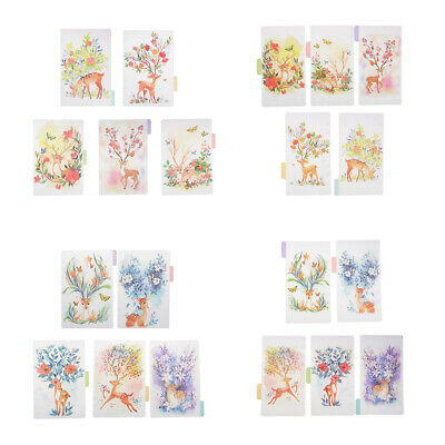5pcs A5 A6 Planner Notebook Diary Tabbed Index Dividers Pages with Tabs