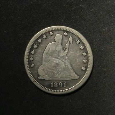 1891-S Seated Quarter 25¢- VG