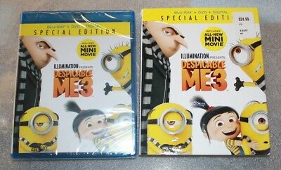 New Despicable Me 3 Blu-Ray Dvd & Digital Factory Sealed Free Shipping