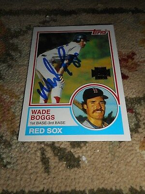 Wade Boggs Signed Baseball Card 2001 Topps Archives Boston Red Sox Autograph