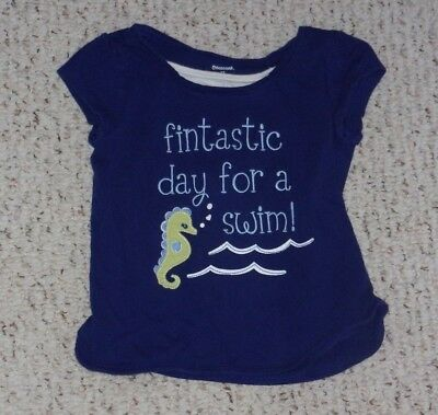 """Fantastic Day for a Swim"" Blue Gymboree S/S Top, Greek Isle Style, 2T, VGUC"