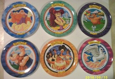 Disney McDonald's Hercules Collector Plates 1997 Complete Set of 6 Plastic