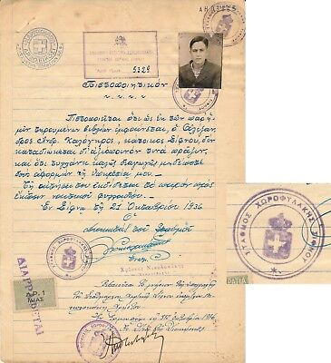 Greece  - Sifnos Island 1936, Municipality Certificate With Revenues #d1351