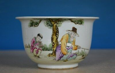 Fine Antique Chinese Famille Rose Porcelain Flower Pot Marked Xiong Zuoxian G792