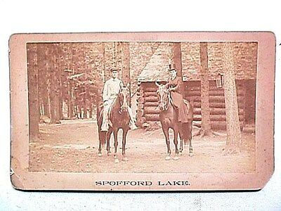 Spofford Lake Chesterfield NH Cabinet Card Vintage Photo Collectible
