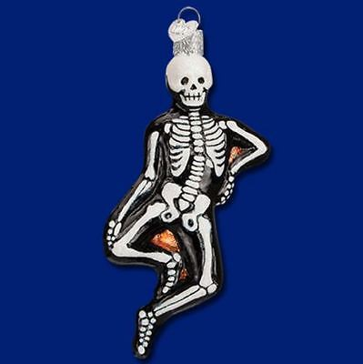 Old World Christmas Mr Bones Skeleton Glass Halloween Ornament FREE BOX