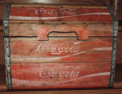 Rare* 1984 Cincinnati Ohio Wooden Coca-Cola Bottle Crate Treasure Chest Box