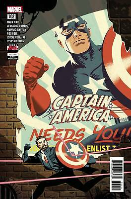 Captain America #702 Standard (2018 Marvel Comics) NM Larraz Waid