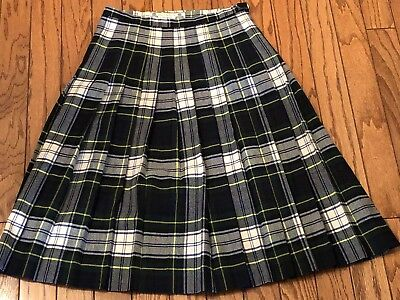 Vintage Kinloch Anderson Kilt Scotland Made 100% Wool US Size 14