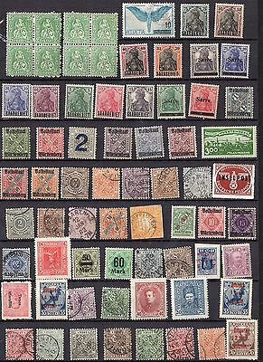 SWITZERLAND GERMANY AUSTRIA POLAND RUSSIA 1870'S -1940's COLLECTION OF 422 MOST