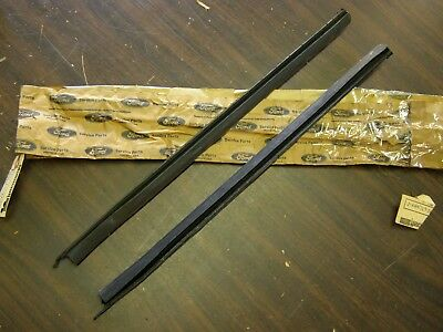 NOS OEM Ford 1969 Galaxie 500 Quarter Window Weatherstrips XL LTD Mercury