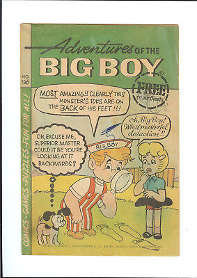 ADVENTURES OF THE BIG BOY #126 1967 WEBS ADVENTURE CORP Miraculous Cape GD/VG