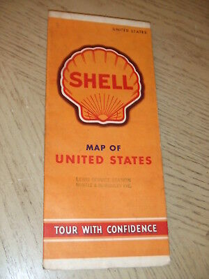 RARE 1941 Shell Oil Gas United States Highway Road Map STAMP Elkhart Indiana USA