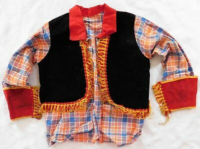 Vintage childs fancy dress costume Wild West Cow-boy girl FOR DISPLAY ONLY