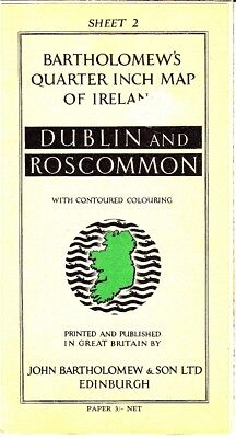 John Bartholomew's Quarter Inch Map of Ireland Dublin Roscommon Sheet 2