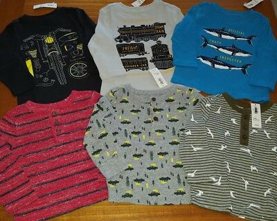 Old Navy Boys 12-18 MONTH Long Sleeve Shirt 6 PIECE Clothing Lot TOPS #9-125-18