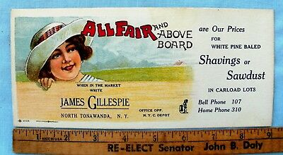 Early All Fair and Above the Board North Tonawanra NY Lumber Co. Ink Blotter