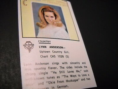 LYNN ANDERSON original 1970 music biz promo only lp review UPTOWN COUNTRY GIRL