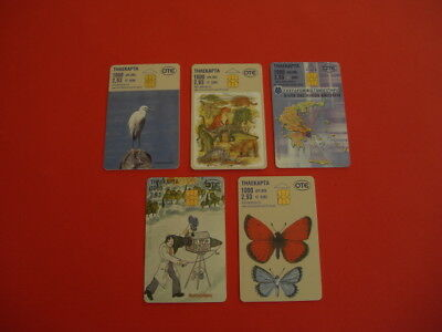 5 Rare Greek 2.93 Euro Phone Cards Dated 2003
