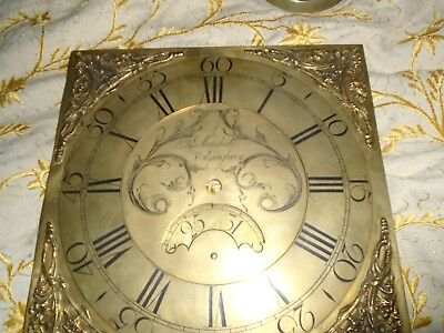 Brass Clock Face  for Longcase  Clock, R Marshall Wolsingham
