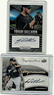 Yovani Gallardo Lot Of 2 Different Authentic  Certified Autograph Cards