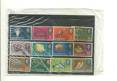 Commonwealth Barbados used part set of 12 stamps