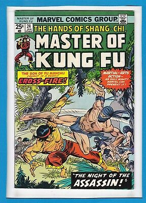 The Hands Of Shang-Chi, Master Of Kung Fu #24_January 1975_Very Fine_Bronze Age!