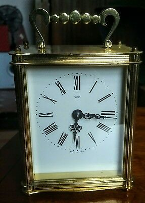 Beautiful Smiths Sectronic Solid Brass Battery Carriage Clock