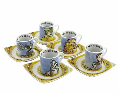 Cardew Design Wizard of Oz Tea Party Cup & Saucer (Set of 5), 3 oz, Multi New