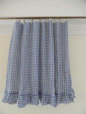 5 Metres Vintage French Drapery Check Cafe Nets  - Unused - 5 1/2 Yards