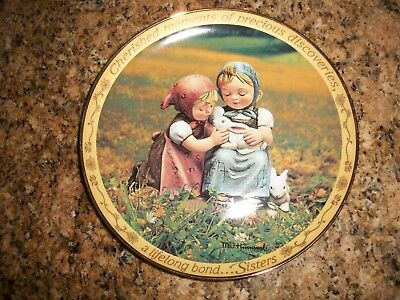 M.I. Hummel Sisters Plate CHERISHED MOMENTS OF PRECIOUS DISCOVERIES