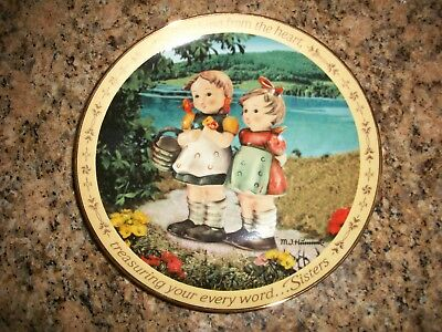 M.I. Hummel Sisters Plate SPEAKING FROM THE HEART