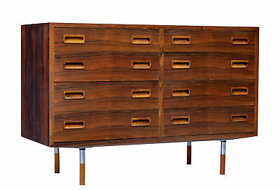 1960's DANISH ROSEWOOD DOUBLE CHEST OF DRAWERS
