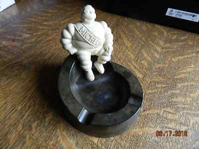 Vintage Bakelite MICHELIN MAN  ASHTRAY Tire Man~Made In England w issues