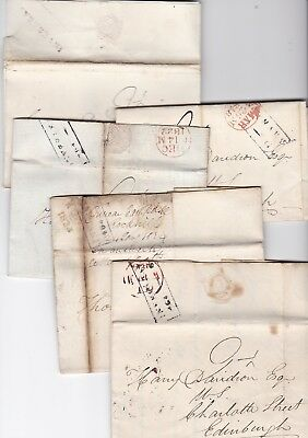 1818/32 5 Pre-Stamp Inverary Pmk Letters To Edinburgh  Duncan Campbell Rockhill