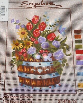 FLOWERS IN A BARREL - Tapestry to Stitch (NEW) by SOPHIE