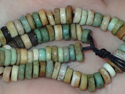 75 Ancient Egyptian Faience Mummy Beads, 3000+Years Old, 4-5mm, #A8928