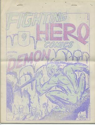 Fighting Hero Comics 9 Rare Early Prozine