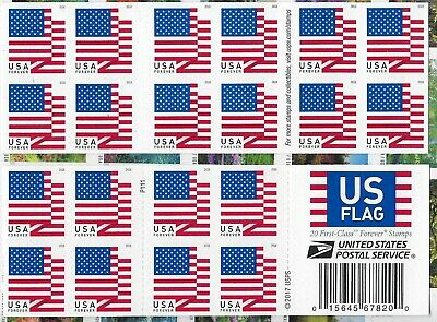 """USA Forever Stamps """"US FLAG"""" 2018(Book of 20) Shipped FAST - WITH TRACKING"""