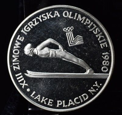 1980 Poland Silver Olympic Round - Skiing