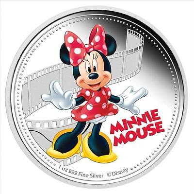 Niue 2014 $2 Disney Mickey & Friends 2014 - Minnie Mouse 1 Oz Silver Proof Coin
